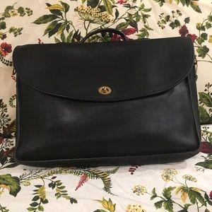 Coach Leather Unisex Attaché Bag